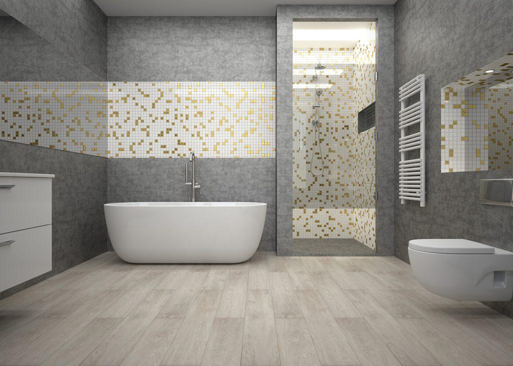 Reforma baño con suelo de vinilo